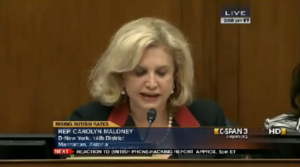 Rep. Carolyn Maloney Drills The CDC
